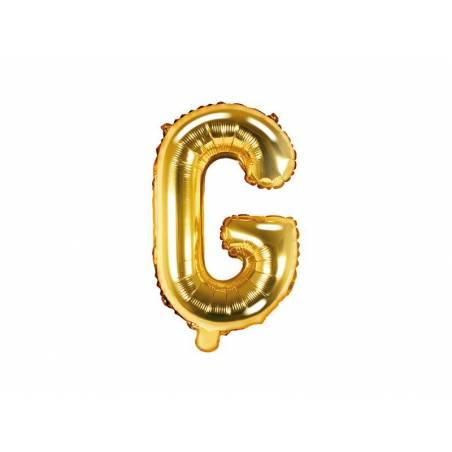 Ballon Feuille Lettre G 35cm doré