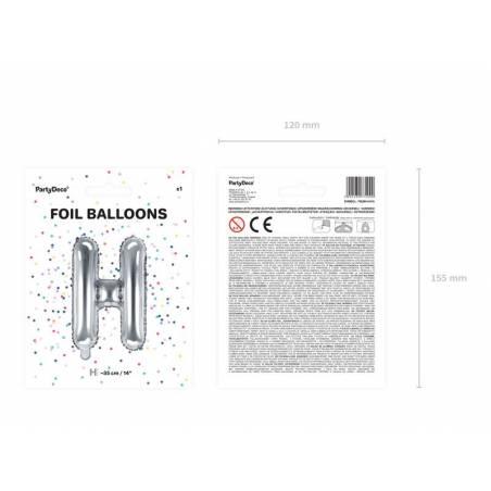 Ballon en aluminium lettre H 35cm argent