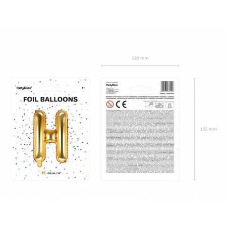 Ballon en aluminium lettre H 35cm doré