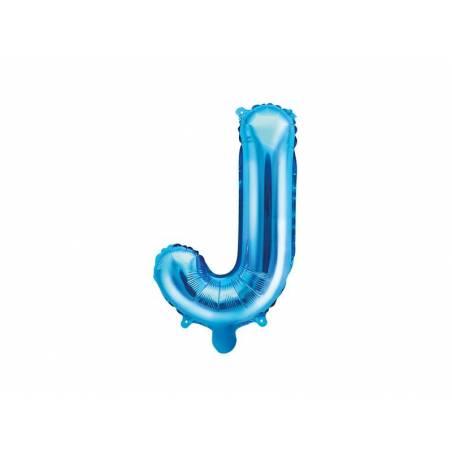 Ballon en aluminium lettre J 35cm bleu