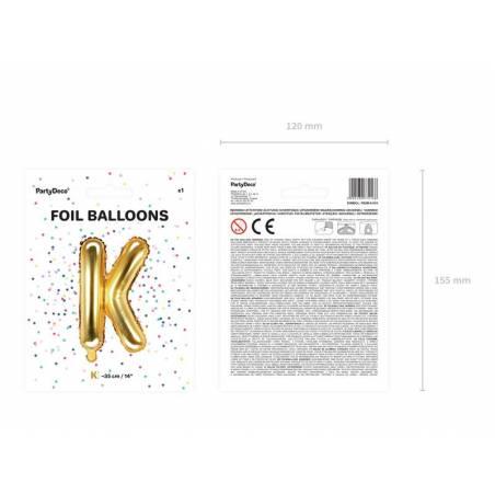 Ballon Feuille Lettre K 35cm doré