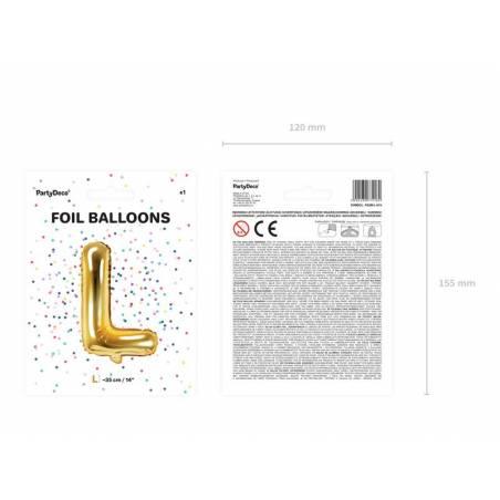 Lettre Ballon Feuille L 35cm doré