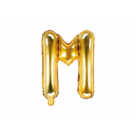 Ballon en aluminium lettre M 35cm or