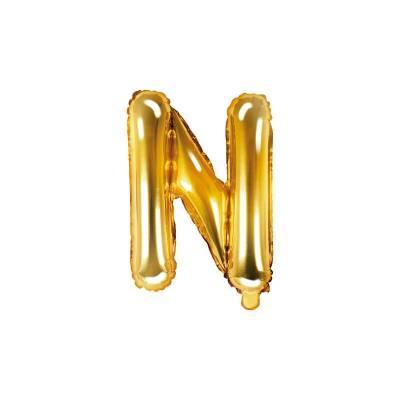 Lettre de ballon en aluminium N 35cm doré
