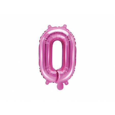 Lettre Ballon Feuille O 35cm rose foncé
