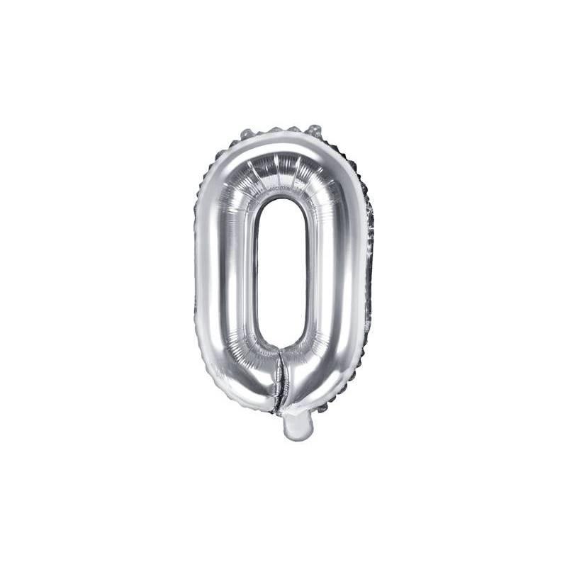 Lettre de ballon en aluminium O 35cm argent