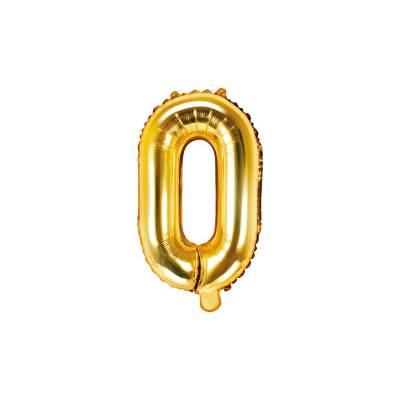 Lettre de ballon en aluminium O 35cm doré