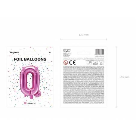 Foil Ballons Letter Q 35cm rose foncé