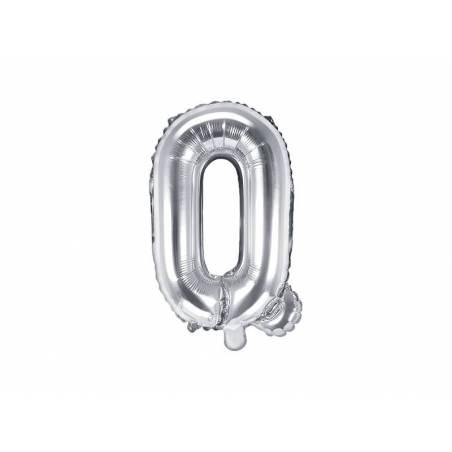 Foil Ballons Letter Q 35cm argent