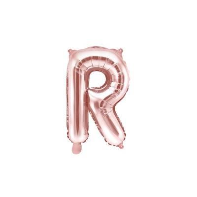 Lettre de ballon en aluminium lettre R 35cm or rose