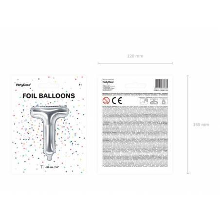 Lettre Ballons Foil T 35cm argent