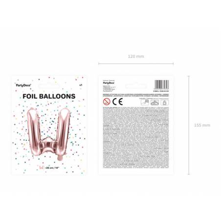 Lettre Ballons Foil 35cm or rose