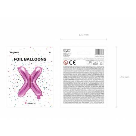 Ballon en papier lettre X 35cm rose foncé