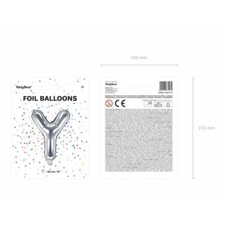 Ballon en aluminium lettre Y 35cm argent