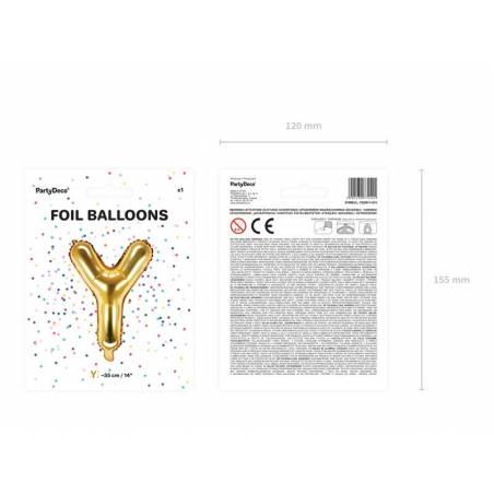 Ballon en aluminium lettre Y 35cm doré