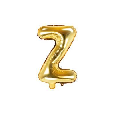 Ballon Feuille Lettre Z 35cm doré
