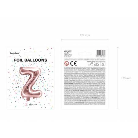 Ballon en aluminium lettre Z 35cm or rose