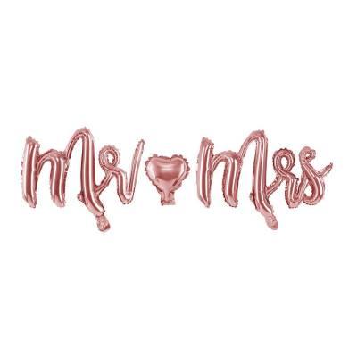Foil Ballons Mr Mrs or rose 69x125cm
