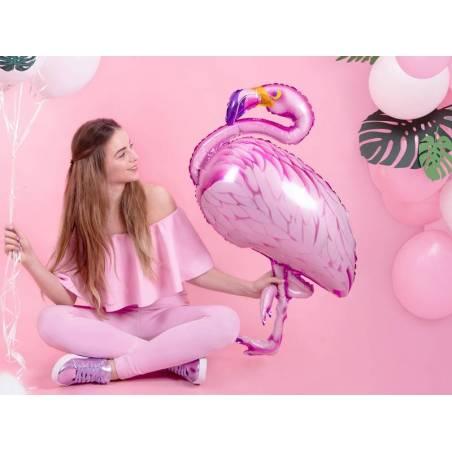 Ballonnet en feuille Flamingo rose 70x95cm