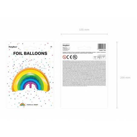 Ballon en feuille Rainbow mix 73x45cm