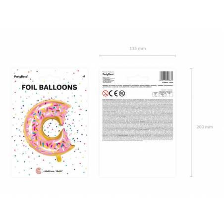 Ballon d'aluminium Donut mélange 48x50cm
