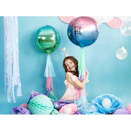 Ballon Foil Ombre Ball violet et bleu 35cm