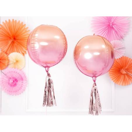 Ballon de papier d'aluminium ombré rose et orange 35cm