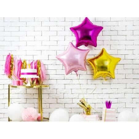 Foil Ballons Star 48cm rose foncé