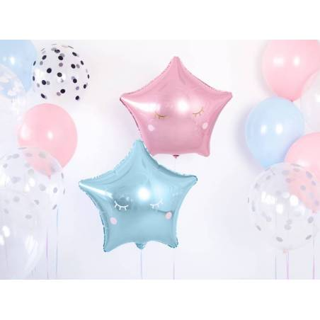 Foil Ballons Star 48cm bleu ciel