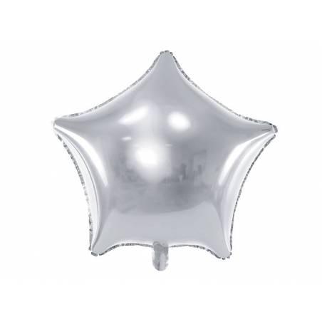 Étoile ballon ballon 48cm argent