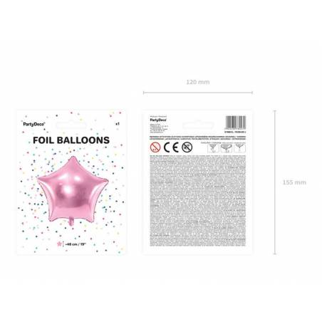 Foil Ballons Star 48cm rose pâle