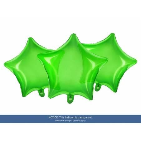 Foil Ballons Star 48cm vert