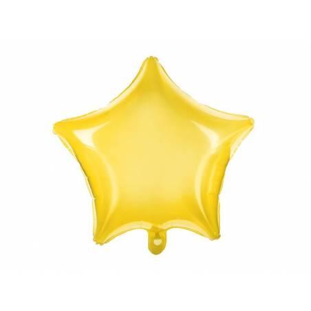 Foil Ballons Star 48cm jaune