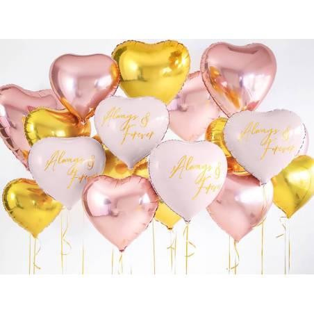 Foil Ballons Heart 45 cm rose pâle