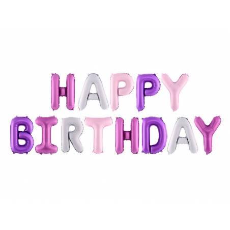 Foil Ballons Happy Birthday 340x35cm mélanger