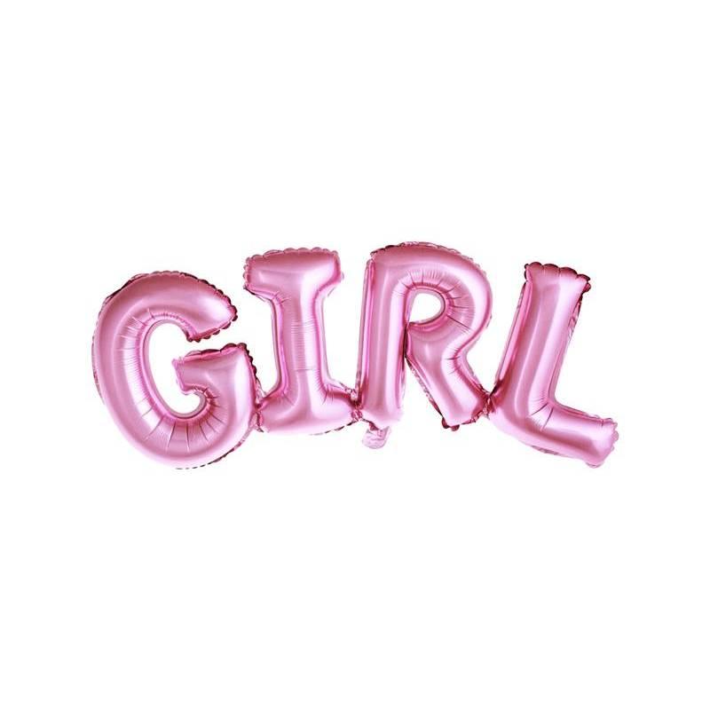 Foil Ballons Girl 74x33cm rose