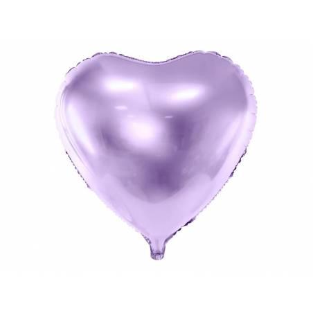 Foil Ballons Heart 45cm lilas clair