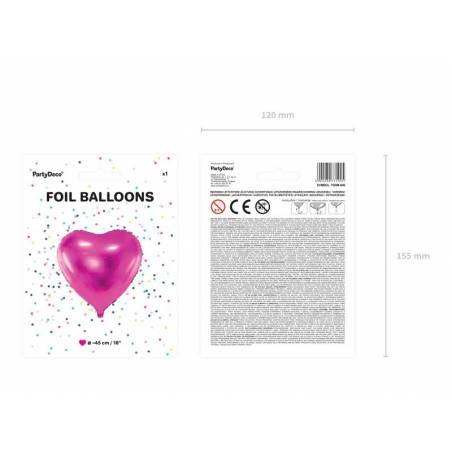 Foil Ballons Heart 45cm rose foncé