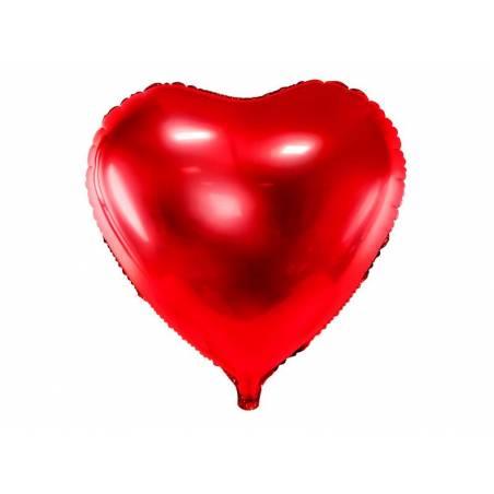 Foil Ballons Heart 45cm rouge