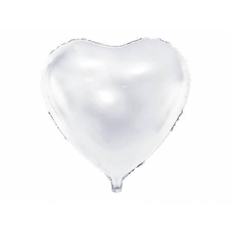 Foil Ballons Heart 45cm blanc