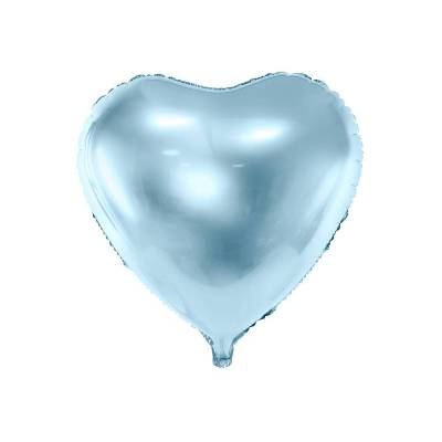 Foil Ballons Heart 45cm bleu ciel