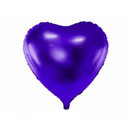 Foil Ballons Heart 45cm violet