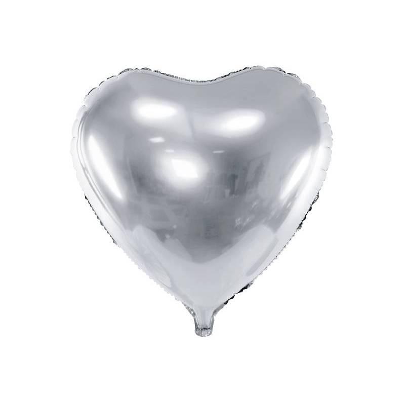 Foil Ballons Heart 45cm argent