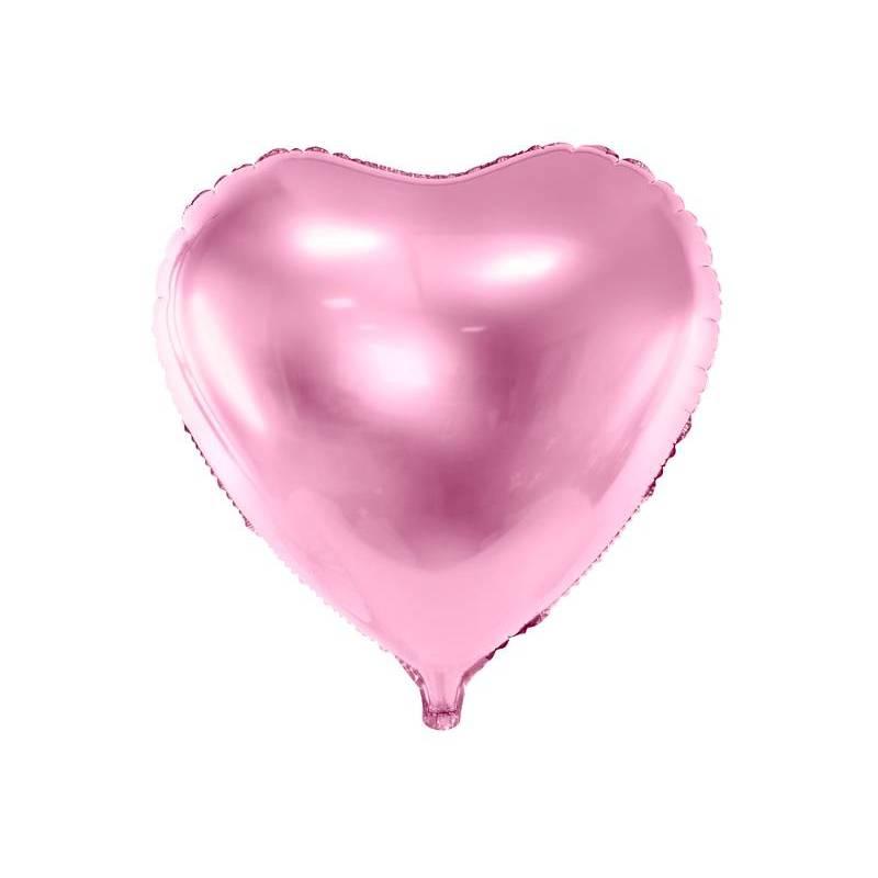 Foil Ballons Heart 45cm rose pâle