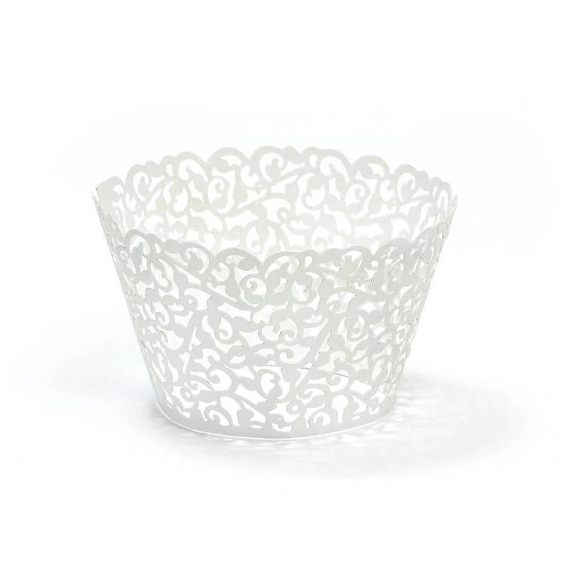 Emballages à cupcakes blancs 55 x 85 cm