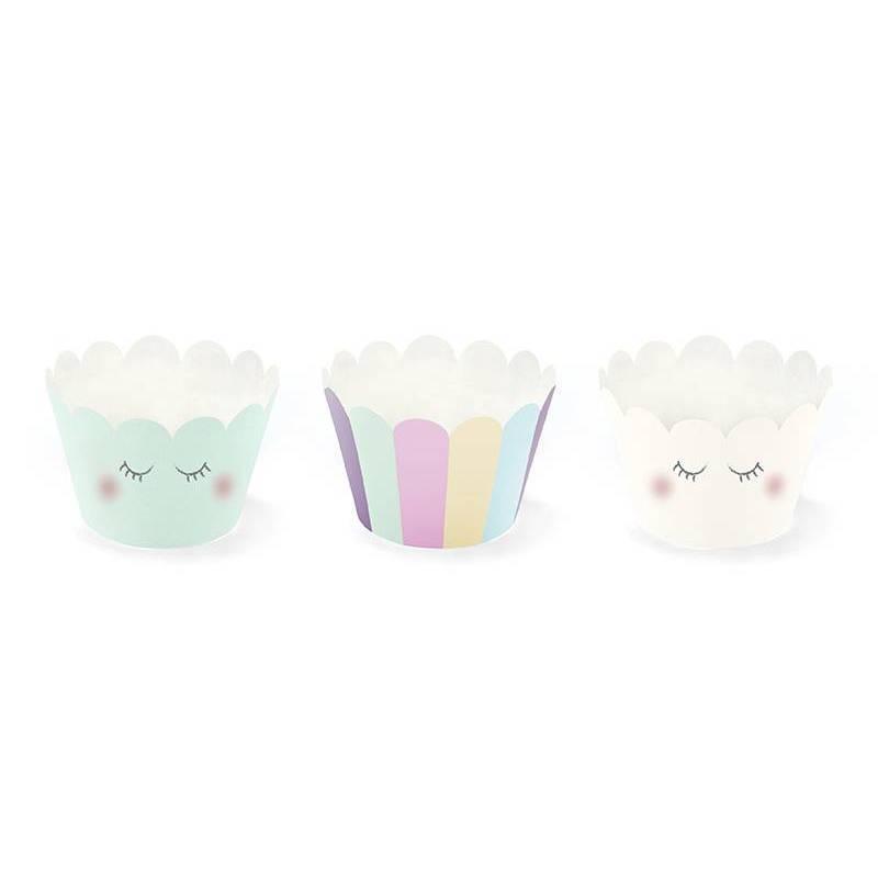 Emballages pour cupcakes Licorne 5x7.5x 5cm