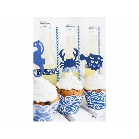 Emballages à cupcake Ahoy 5x7.5x 5.5cm