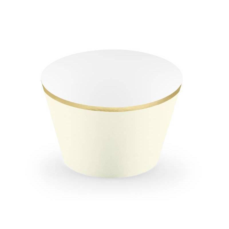 Emballages pour petits gâteaux 48x76x46cm crème légère