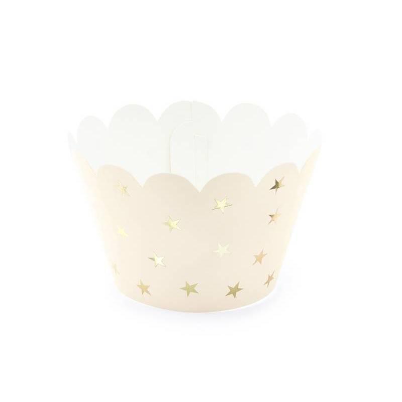 Emballage Cuppcake 5x7.5x5cm pêche légère