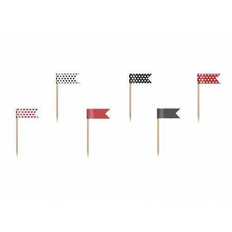 Petits drapeaux Cupcake Toppers Coccinelle mélange 7 cm